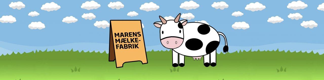 Maren Malkeko fra Marens Mælkefabrik